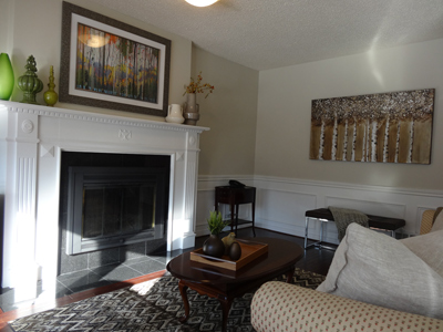 Photo of a Family Room after staging