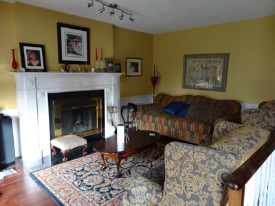 Photo of a Family Room before staging