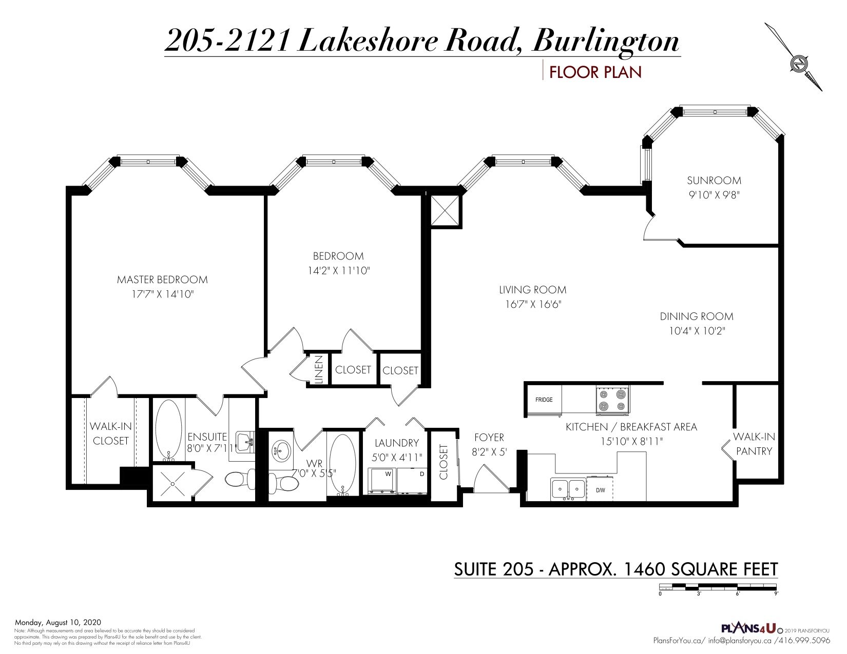 205-2121 Lakeshore Rd. Floor Plan