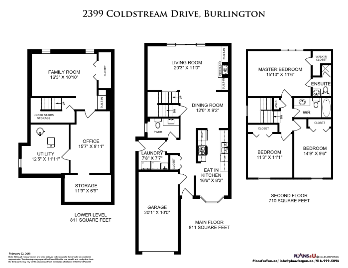 2399 Coldstream Dr. Burlington ON - Floor Plans