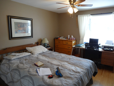 Photo of a Bedroom before staging