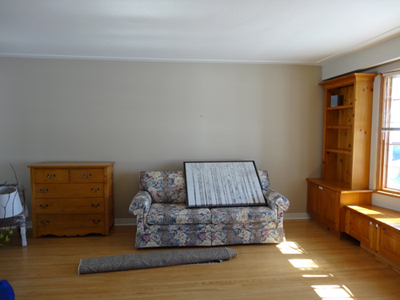 Photo of a Living Room before staging